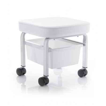 COSMETIC STOOL FOR PEDICURE WITH A CONTAINER