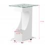 Funktions-, Metall- und Glastisch mit Gummirädern mit Blockierfunktion